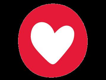 Heart inside circle